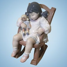 "Lladro ""Nap-time"" Figurine of Sleeping Child Holding her Doll"