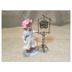Doll House Bird Cage and Stand