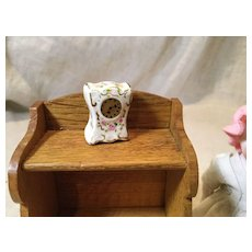 Tiny French Style China Clock for Doll House
