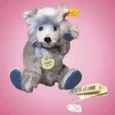 "9"" Re-Issued Steiff Teddy Baby Bear in Blue Mohair"