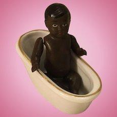 "3"" Gummi Celluloid AA Babe and Porcelain Tub"