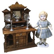 Early 20c. Oak Doll House Sideboard-Schneegass