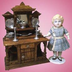 Early 20c. Oak Doll House Sideboard-Schneegass