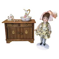C.1920 Doll House Washstand/Bureau from Germany
