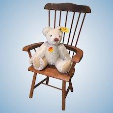 """Dear 4"""" Steiff White Jointed Teddy Bear"""