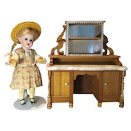 "Antique Schneegass Sideboard in Oversized 1"" Scale"