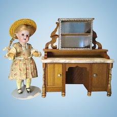 """Antique Schneegass Sideboard in Oversized 1"""" Scale"""
