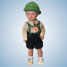 "Vintage 12"" Celluloid Little German Boy Doll-Gummi"