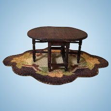Lovely German Doll House Scale Drop Leaf Table