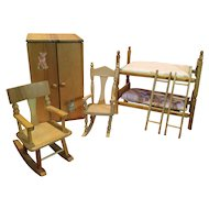 Strombecker Bunks, Armoire, Rockers for Ginny