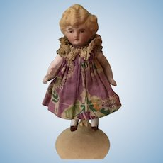 """4"""" All Bisque Jointed Doll Made in Germany"""