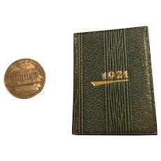 1921 Leather Calendar/Stamp Miniature Book