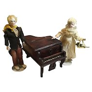 Charming Antique Doll House Sized Miniature Piano