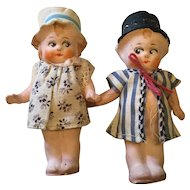 C.1920s Made in Germany Composition Kewpie Couple-AO