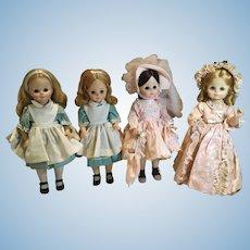 4 Madame Alexander 1960s Dolls & All Original Outfits