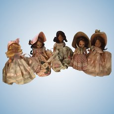 Assortment of 5 NASB Dolls