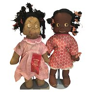 Pair of AA Cloth Rag Dolls from the 1930s/40s
