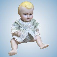 """5"""" Kestner Little Boy Baby All Bisque Doll"""