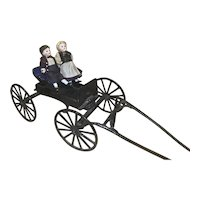 Vintage Iron Buggy for Doll DIsplay