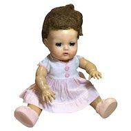 "11"" American Character Tiny Tears Doll & Original Dress"