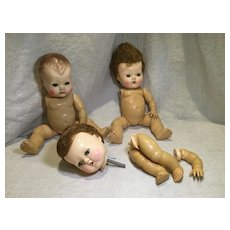 1950s Tiny Tears Dolls for Repair or Parts