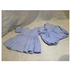 2 Piece Dress and Onesie Set for A Baby Doll
