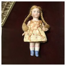 """Early 20c. All Bisque German 5"""" Doll"""