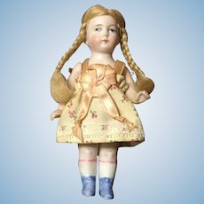 "Early 20c. All Bisque German 5"" Doll"