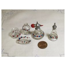 5 Piece Blown Glass Doll Vanity Set for French Fashion/Large Dollhouse