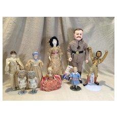 9 Assorted dolls-Artist, Effanbee, Spanish