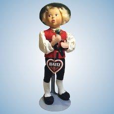 "Fine Condition 9"" Baitz Boy Doll from Austria"