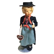 "#2 Austrian Baitz 9"" Girl Doll"