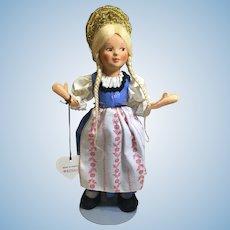 """#3 Austrian Baitz Girl Doll-9"""" Tall"""