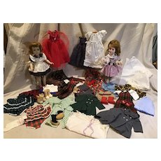 2 Sweet Sue Type Dolls and Incredible 76 Piece Wardrobe