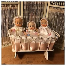 3 Ginnette Friends and Wicker Cradle
