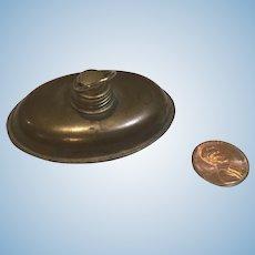 C.1900 Brass Toned Metal Bed Warmer/Bottle