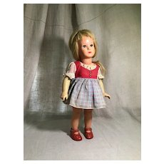 "15"" Kathe' Kruse Celluloid Doll from Early 1960s"