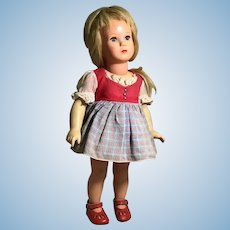 """15"""" Kathe' Kruse Celluloid Doll from Early 1960s"""