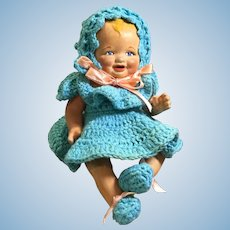 """7"""" Painted Bisque Baby Doll"""