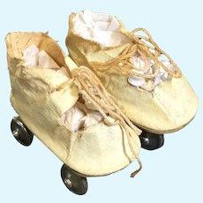 Vintage Oilcloth Roller Skates