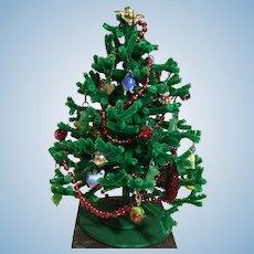 """6-1/2"""" Artist Chenille Christmas Tree for Doll House or Mignonette"""