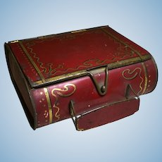 Early 20c. Suitcase/Satchel Cookie Tin
