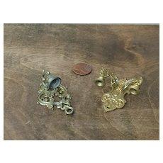 C.1900 Doll House Wall Sconces w/Gold Wash