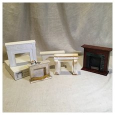 5 Vintage Fireplace Mantels for Doll Houses