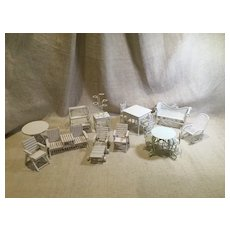 Large Assortment of Vintage Doll House Patio/Deck Furniture