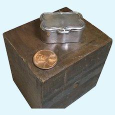 Miniature Sterling SIlver Trinket Box