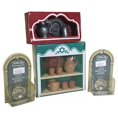 4 Vintage Original Boxed Doll House Miniature Sets
