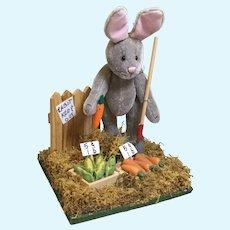 "Vintage ""World of Miniature Bears"" Miniature Peter Rabbit in a Garden"