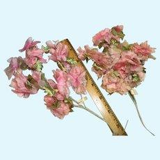 2 Sets of Soft Pink Vintage Blossoms