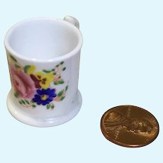 Antique Miniature Porcelain Shaving Mug